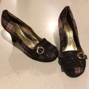 Rampage plaid pumps - almost new